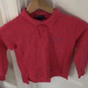 Girls long sleeve polo shirt